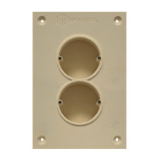 Soundproof electric socket - 2 sockets