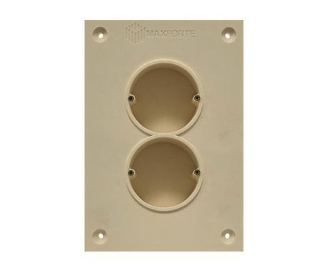 Soundproof electric socket - 2 sockets