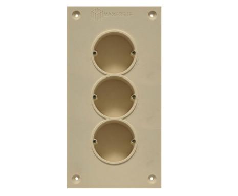Soundproof electric socket - 3 sockets