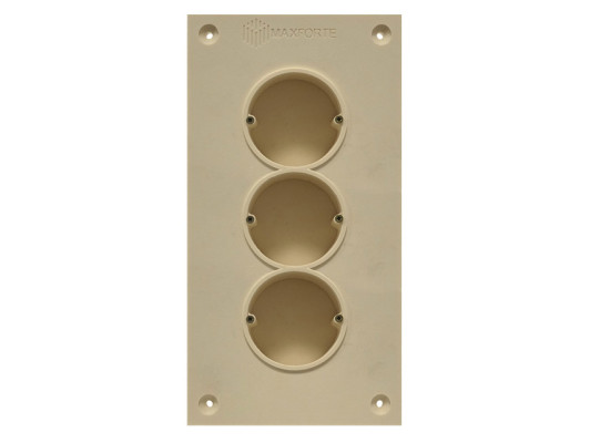 Soundproof electric socket - 3 sockets