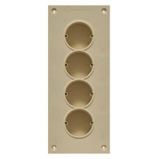 Soundproof electric socket - 4 sockets