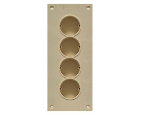 Soundproof electric socket - 4 sockets
