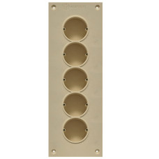 Soundproof electric socket - 5 sockets
