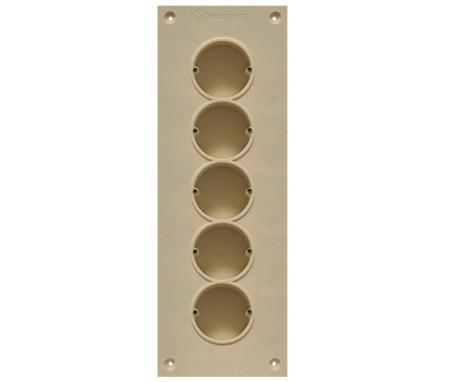 Soundproof electric socket - 5 sockets